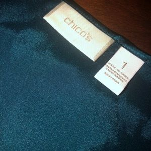 Chico's. Dark green/teal tank top